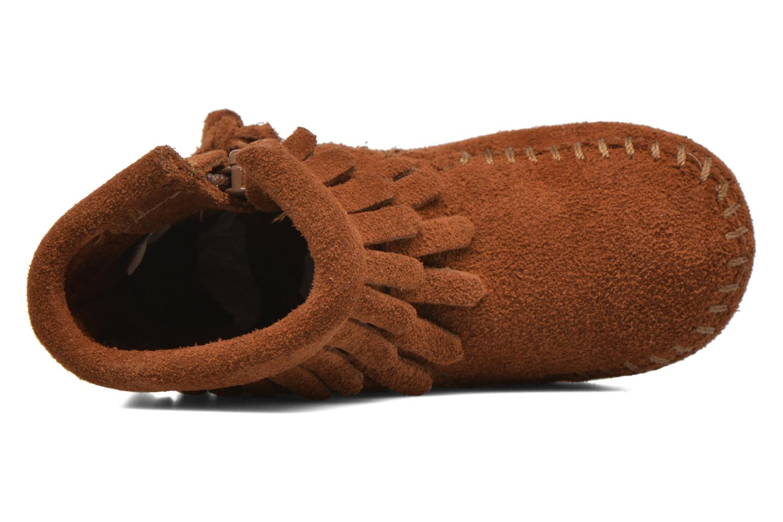 Bottines et boots Minnetonka Double Fringe side zip boot B Marron vue gauche