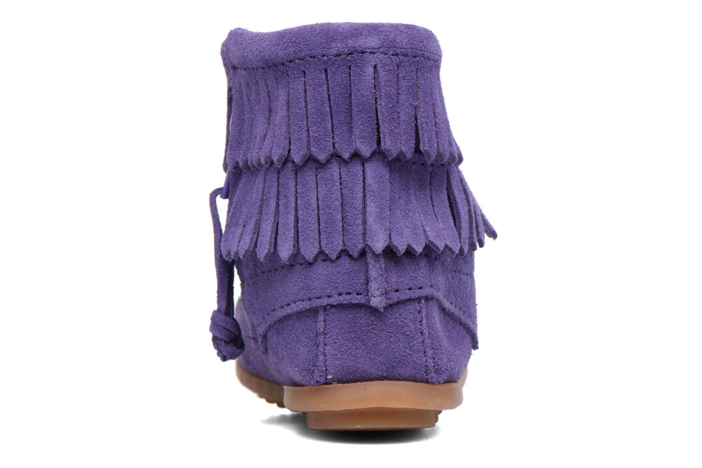 Bottines et boots Minnetonka Double Fringe side zip boot E Violet vue droite