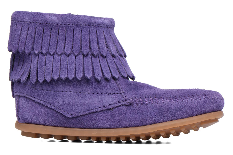 Bottines et boots Minnetonka Double Fringe side zip boot E Violet vue derrière