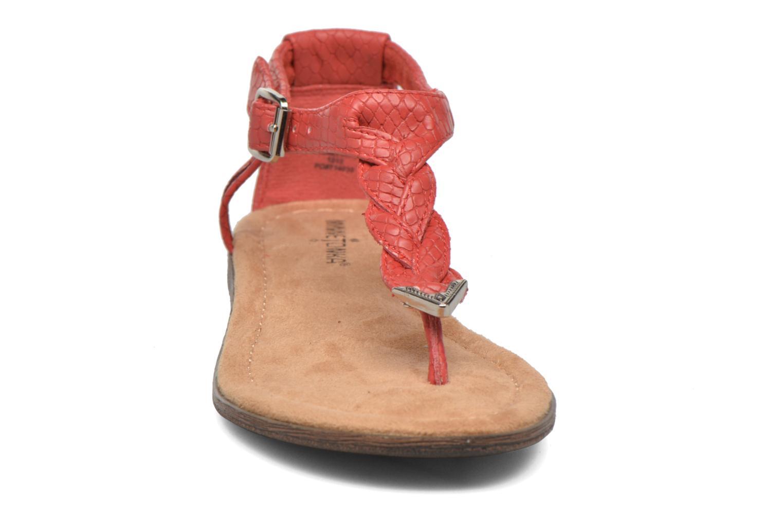 Sandales et nu-pieds Minnetonka Carnival Thong Orange vue portées chaussures