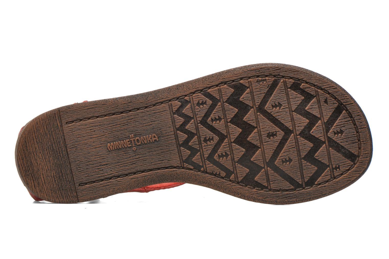 Sandales et nu-pieds Minnetonka Carnival Thong Orange vue haut