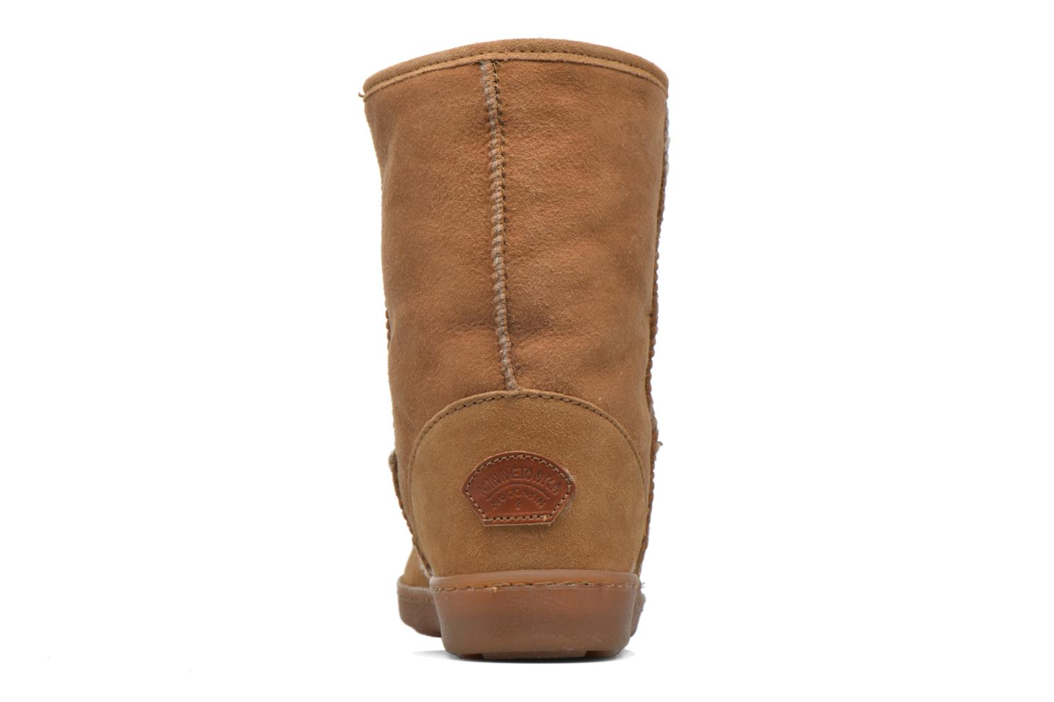 Bottines et boots Minnetonka Short Sheepskin Pug Boot W Marron vue droite