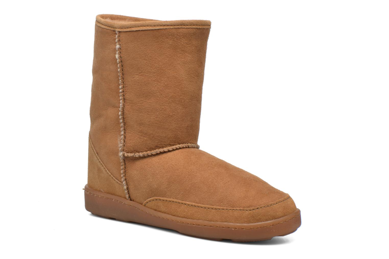 Minnetonka Short Sheepskin Pug Boot W (Marron) - Bottines et boots chez Sarenza (289568)