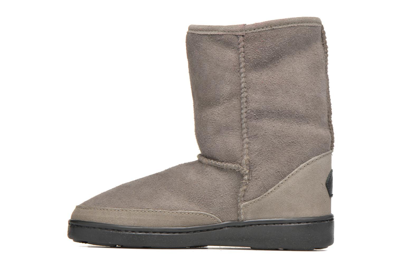 Bottines et boots Minnetonka Short Sheepskin Pug Boot W Gris vue face