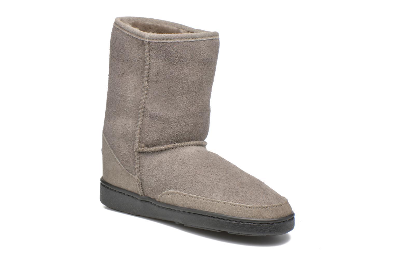 Bottines et boots Minnetonka Short Sheepskin Pug Boot W Gris vue détail/paire