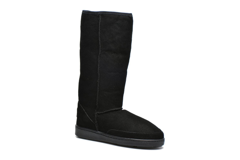 Bottines et boots Minnetonka Tall Sheepskin Pug Boot W Noir vue 3/4