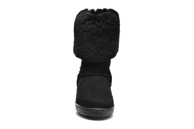 Bottines et boots Minnetonka Tall Sheepskin Pug Boot W Noir vue portées chaussures