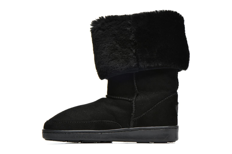 Bottines et boots Minnetonka Tall Sheepskin Pug Boot W Noir vue face