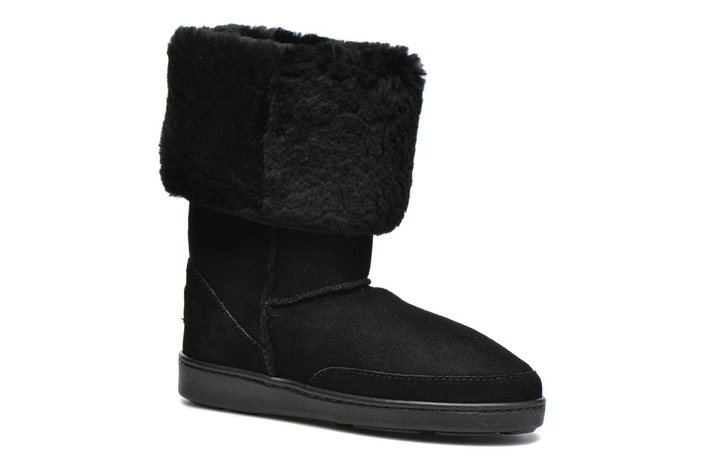 Bottines et boots Minnetonka Tall Sheepskin Pug Boot W Noir vue détail/paire