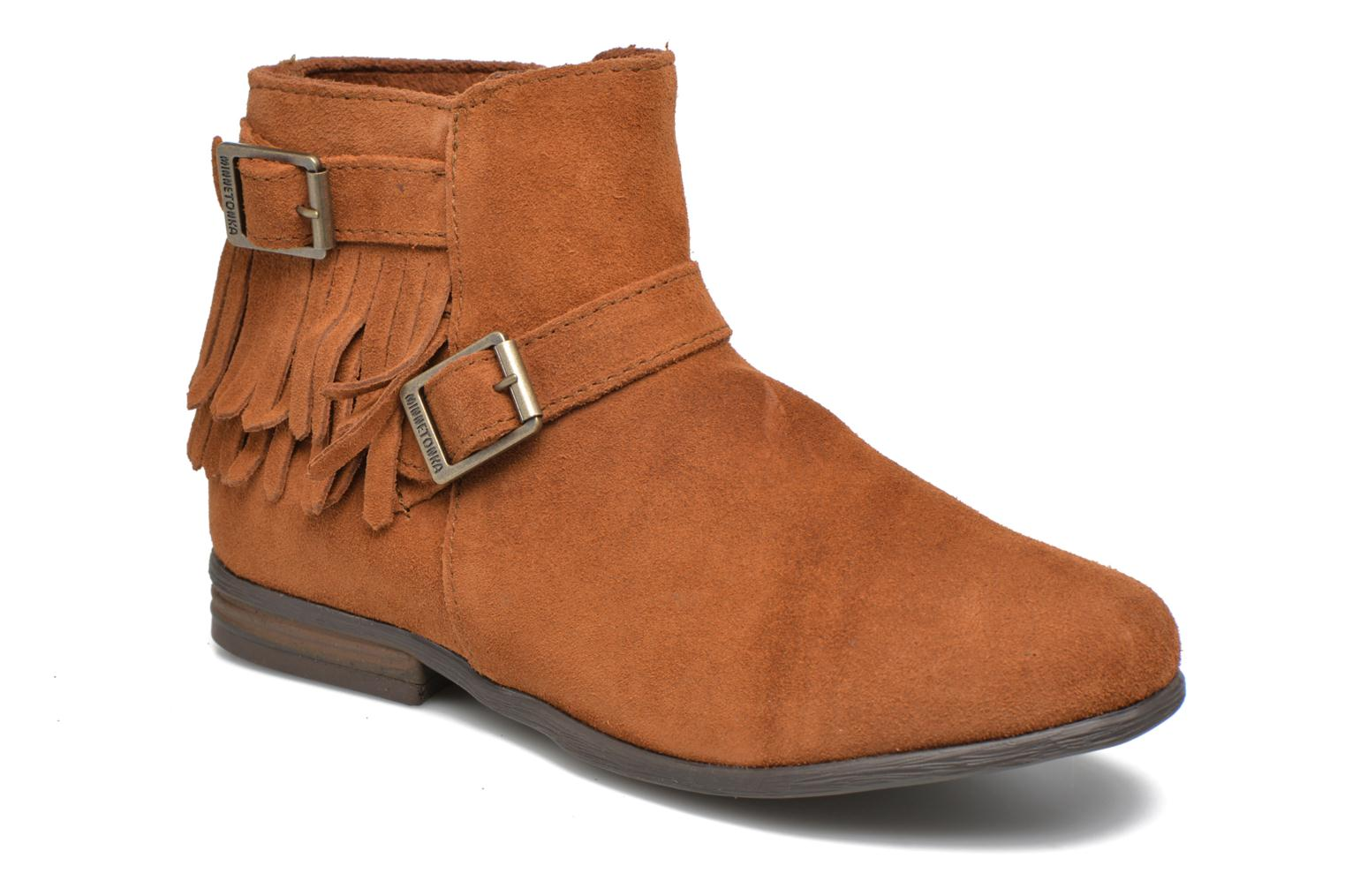 Ankle boots Minnetonka Rancho Boot Brown detailed view/ Pair view