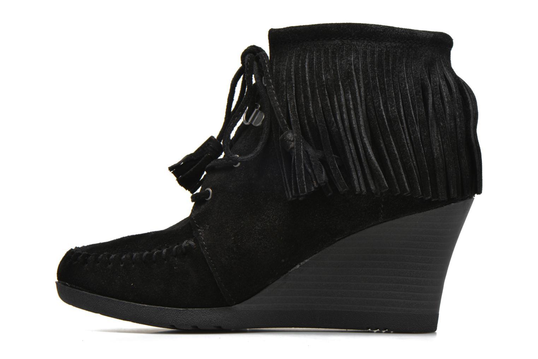Bottines et boots Minnetonka Lace-Up Fringe Ankle Wedge Boot Noir vue face