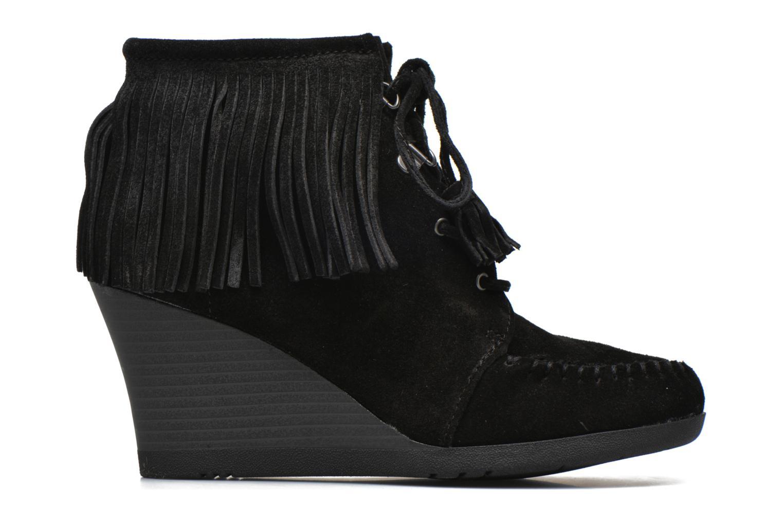 Bottines et boots Minnetonka Lace-Up Fringe Ankle Wedge Boot Noir vue derrière