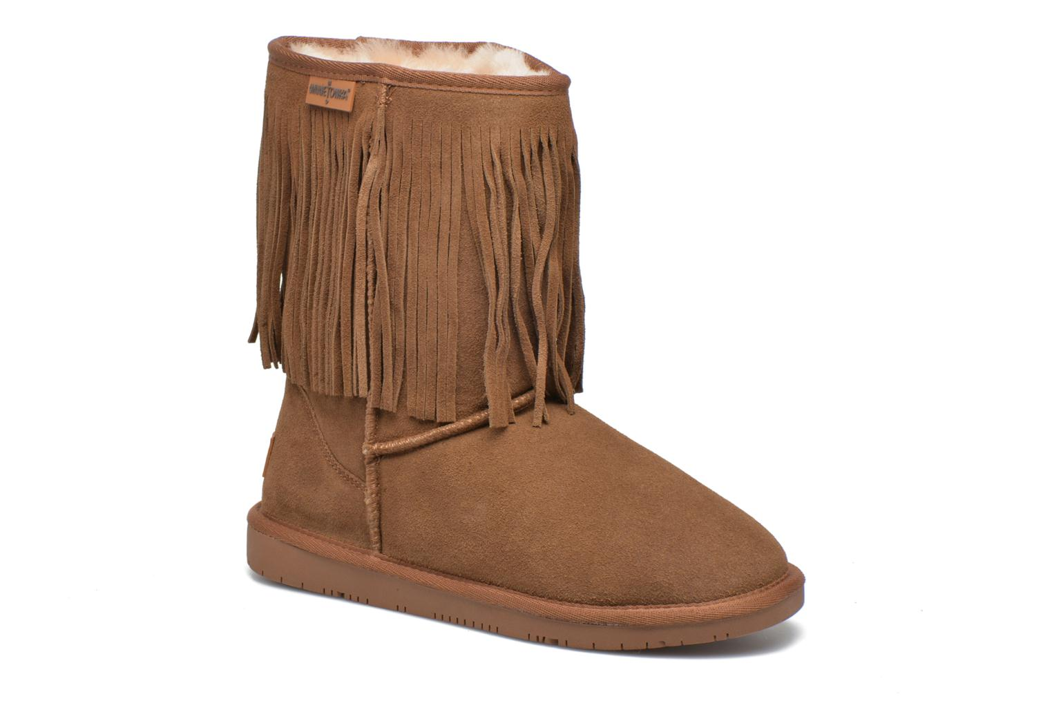 Hyland Boot Gold Tan Suede