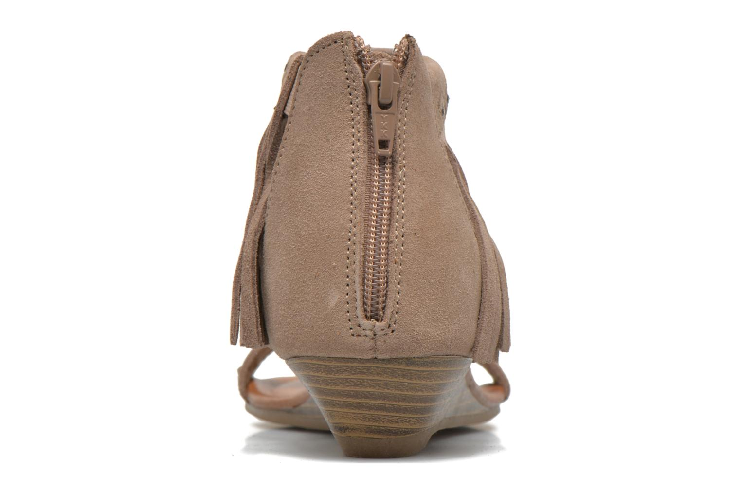 Savona Low Wedge Taupe Suede