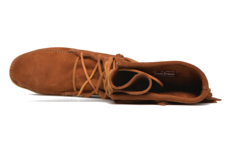 Bottes Minnetonka Front Lace Knee-Hi Boot Marron vue gauche
