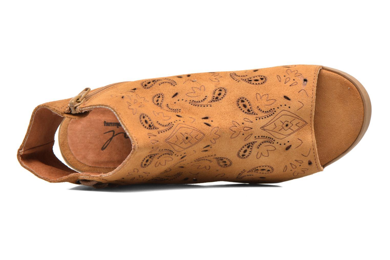 Sandales et nu-pieds Coolway Topaz Marron vue gauche