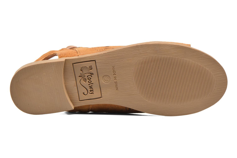 Sandales et nu-pieds Coolway Topaz Marron vue haut