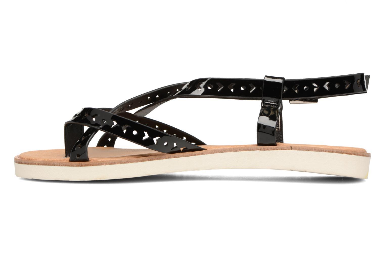 Sandales et nu-pieds Coolway Poppy Noir vue face