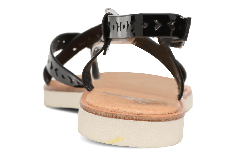 Sandales et nu-pieds Coolway Poppy Noir vue droite