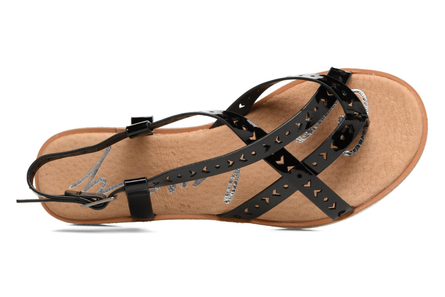 Sandals Coolway Poppy Black view from the left