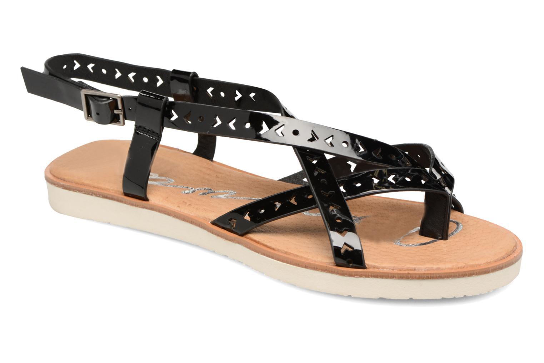 Sandales et nu-pieds Coolway Poppy Noir vue détail/paire