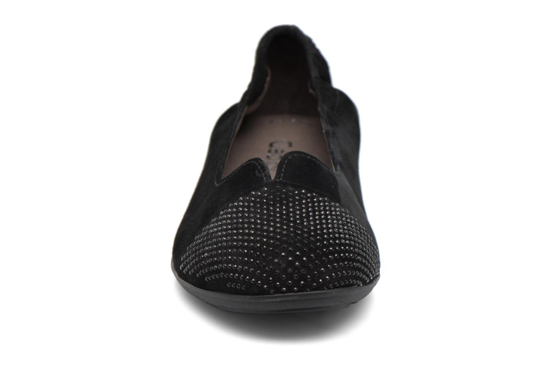 Ballerines Gabor Linda Noir vue portées chaussures