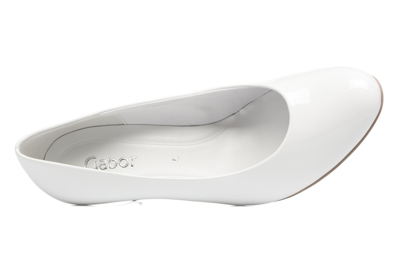Zapatos de tacón Gabor Pesaro Blanco vista lateral izquierda