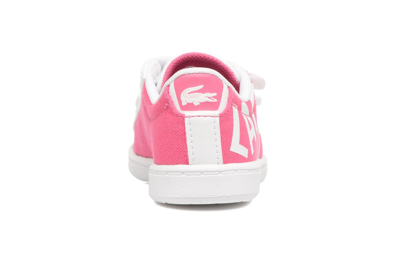 Baskets Lacoste Carnaby Evo 117 1 Kids Rose vue droite