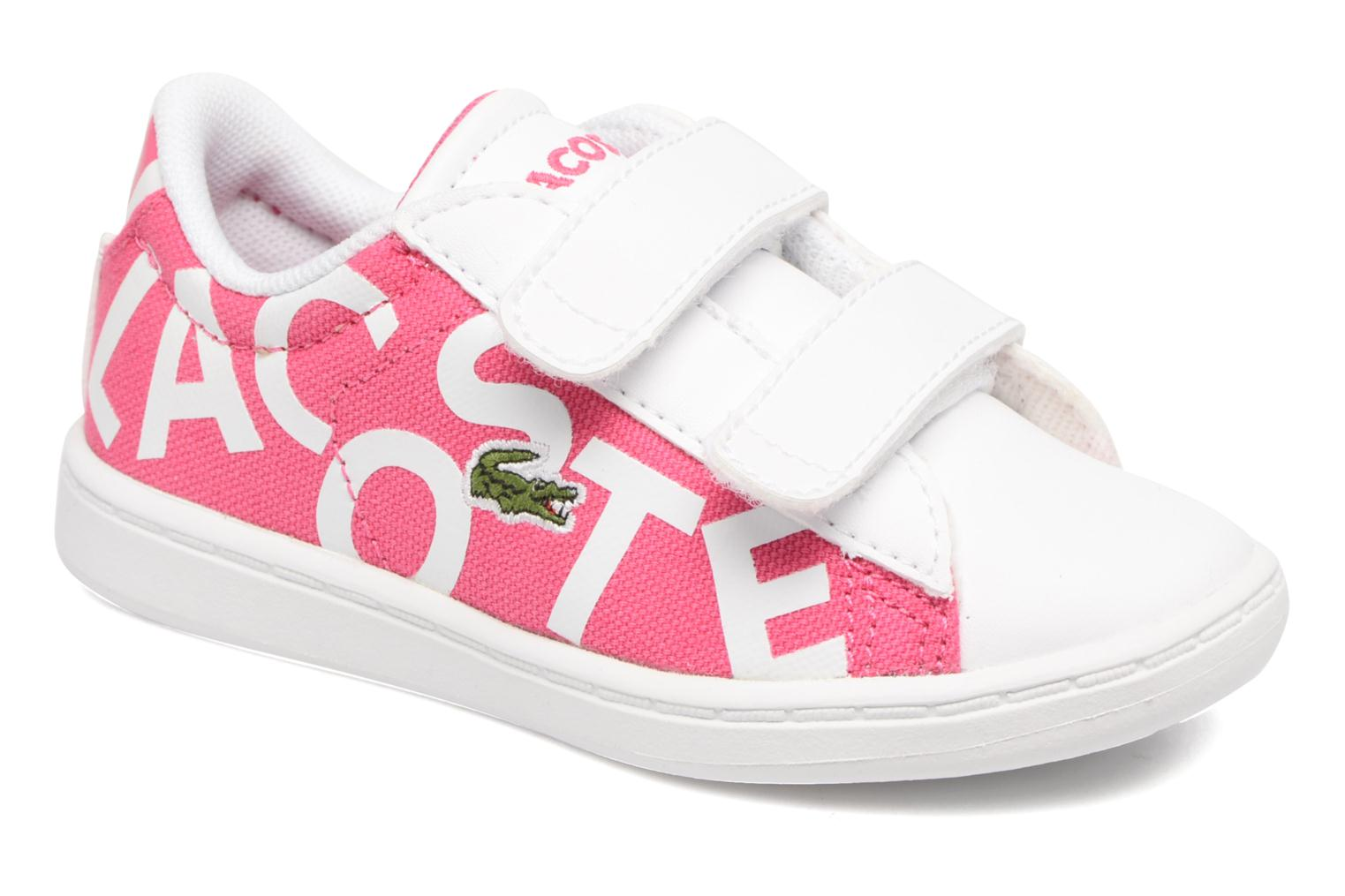 Baskets Lacoste Carnaby Evo 117 1 Kids Rose vue détail/paire