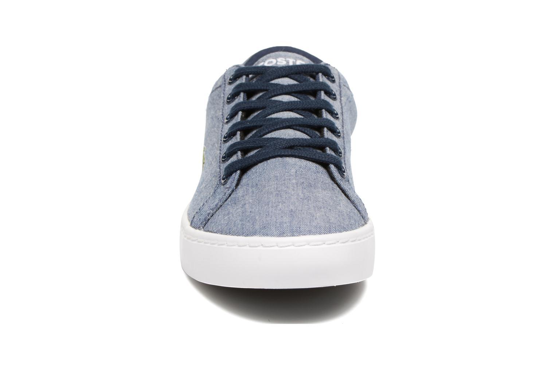 Baskets Lacoste Straightset Lace 117 3 Bleu vue portées chaussures