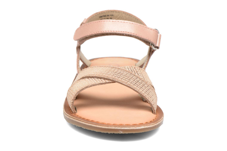 Sandales et nu-pieds Aster Canissa Rose vue portées chaussures