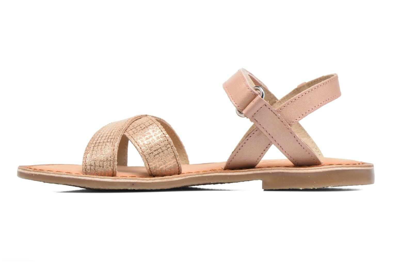 Sandales et nu-pieds Aster Canissa Rose vue face