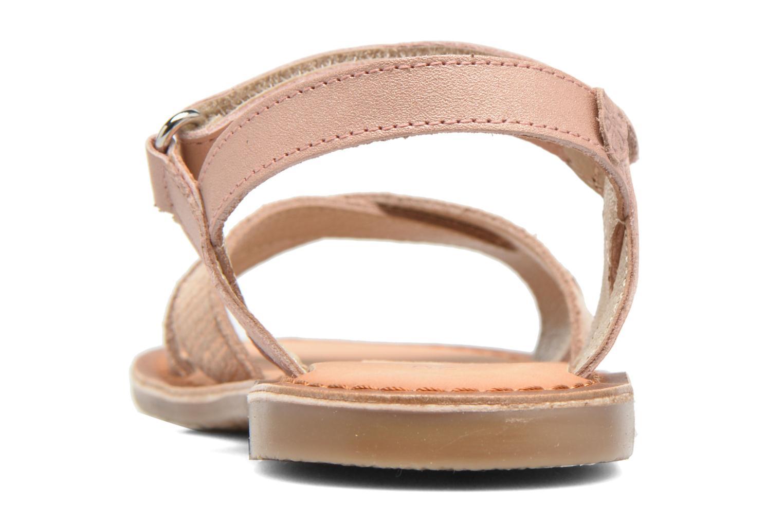 Sandales et nu-pieds Aster Canissa Rose vue droite