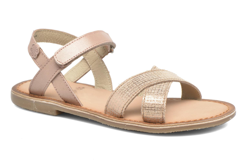 Sandales et nu-pieds Aster Canissa Rose vue détail/paire