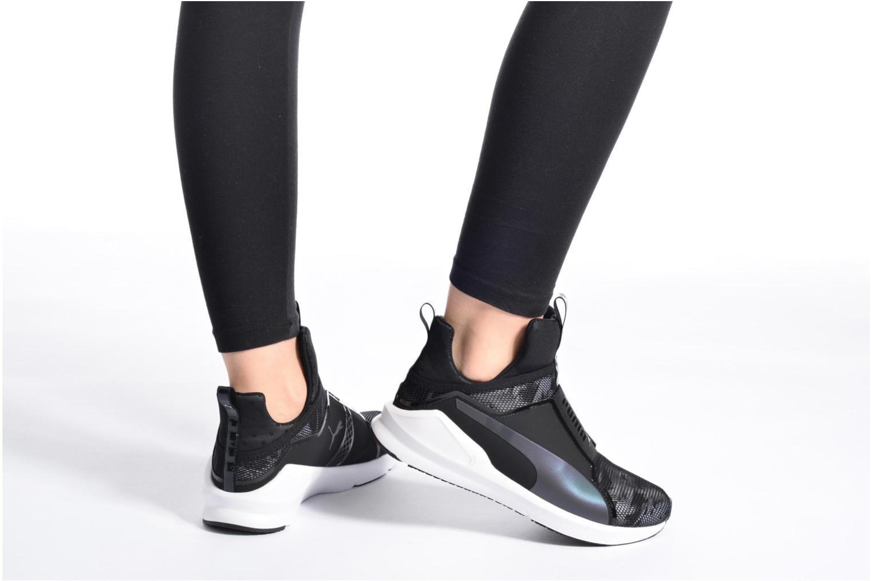 Chaussures de sport Puma WNS Fierce Swan Blanc vue bas / vue portée sac