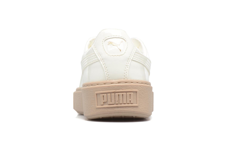 Baskets Puma Wns Basket Platform Patent Beige vue droite