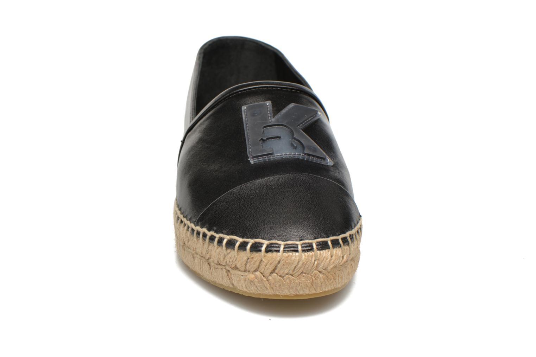 Espadrilles Karl Lagerfeld Karl Leather Espadrille Noir vue portées chaussures
