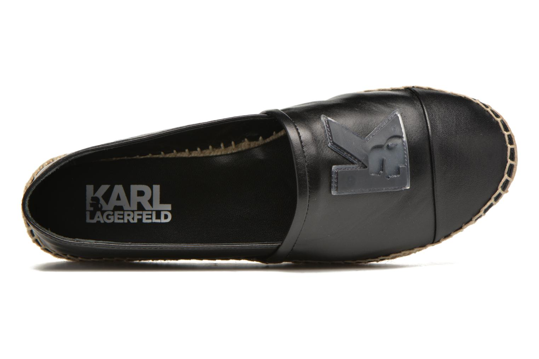 Karl Leather Espadrille Black