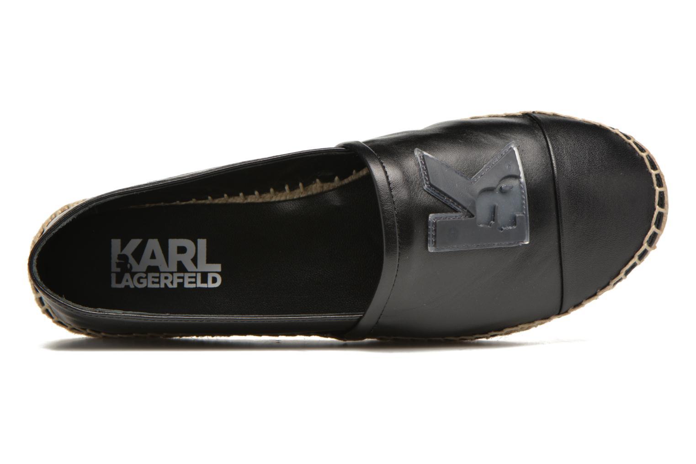 Espadrilles Karl Lagerfeld Karl Leather Espadrille Noir vue gauche