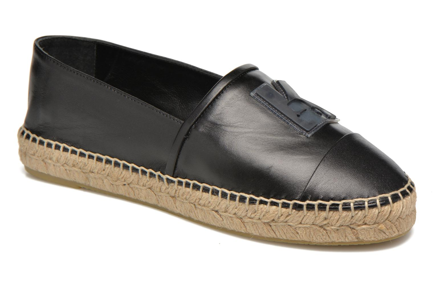 Marques Chaussure femme Karl Lagerfeld femme Karl Leather Espadrille A115 Champage
