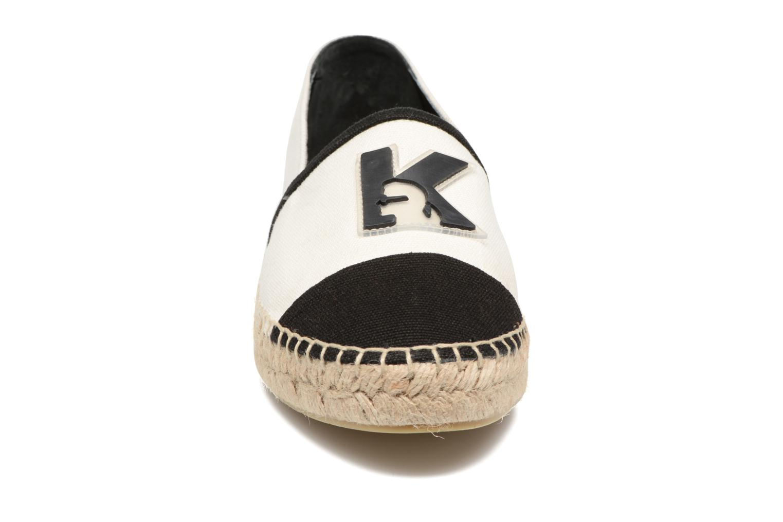 Espadrilles Karl Lagerfeld Karl Espadrille Blanc vue portées chaussures