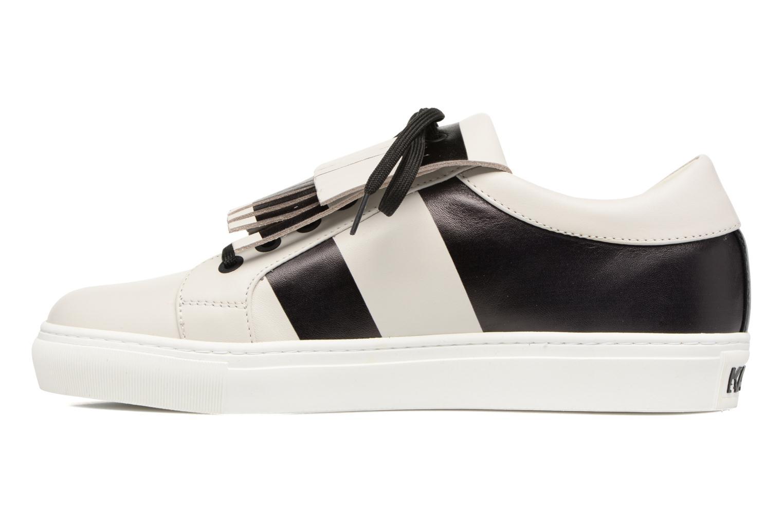 Stripe Fringe Sneaker Ivory