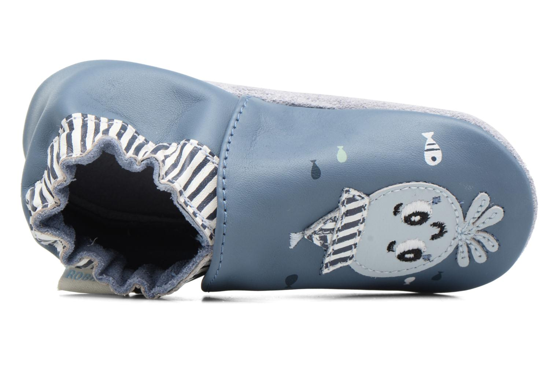 Chaussons Robeez Octopussy Bleu vue gauche