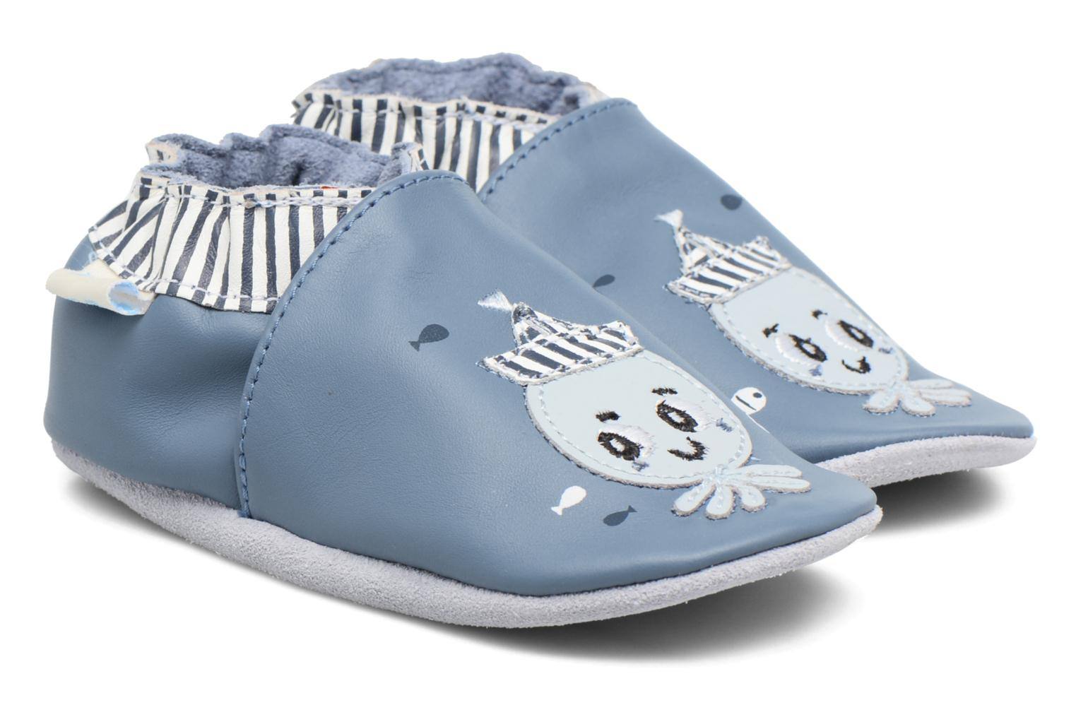 Slippers Robeez Octopussy Blue detailed view/ Pair view