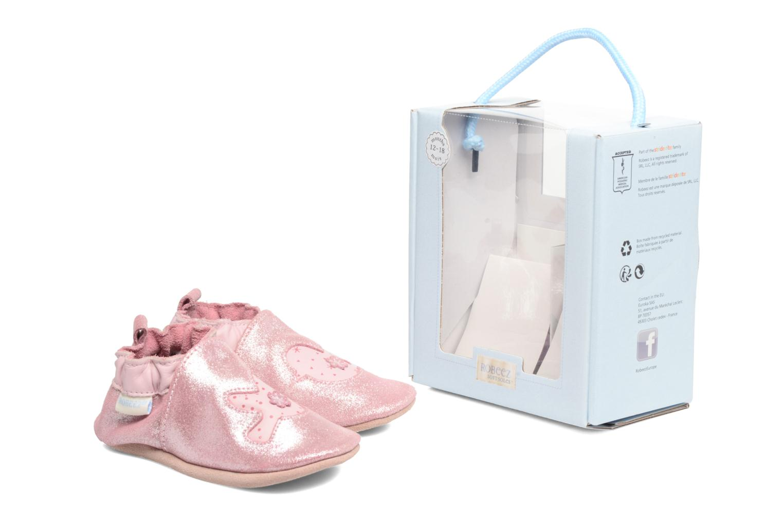 Chaussons Robeez Birdy 2 Rose vue 3/4