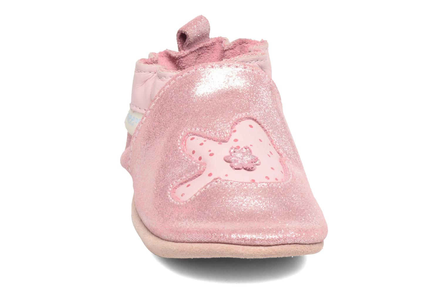 Chaussons Robeez Birdy 2 Rose vue portées chaussures