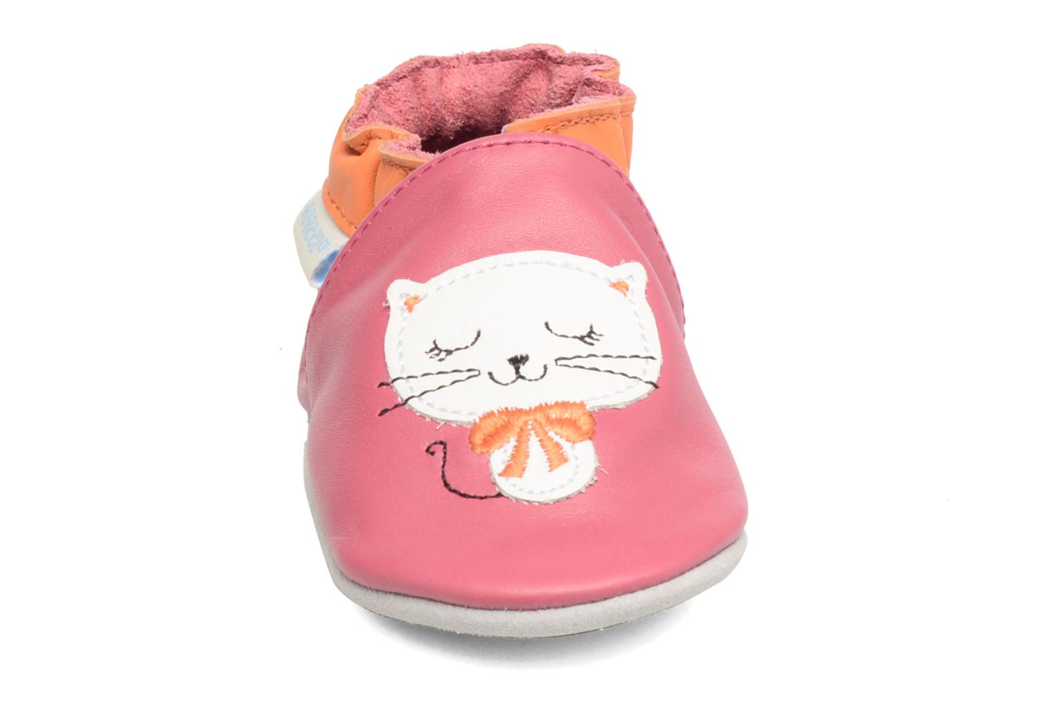 Chaussons Robeez Kitty Kat Rose vue portées chaussures
