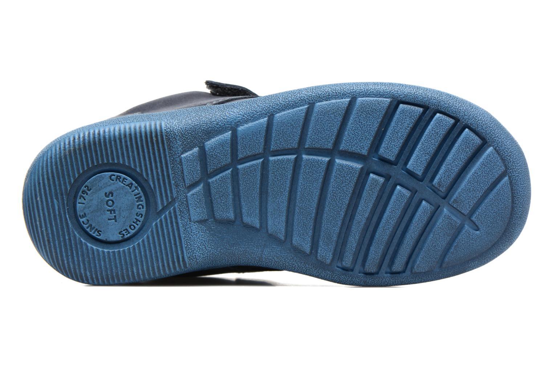 Chaussures à scratch Start Rite SR Super Soft Hugo Bleu vue haut