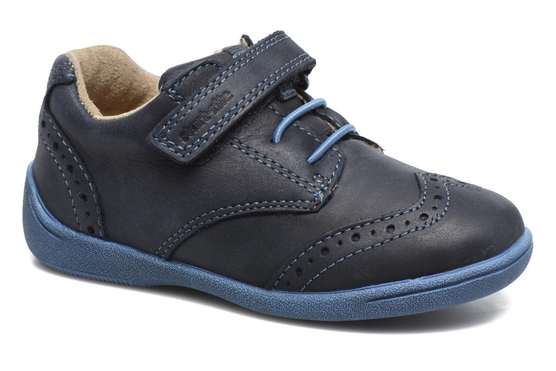 Chaussures à scratch Start Rite SR Super Soft Hugo Bleu vue détail/paire
