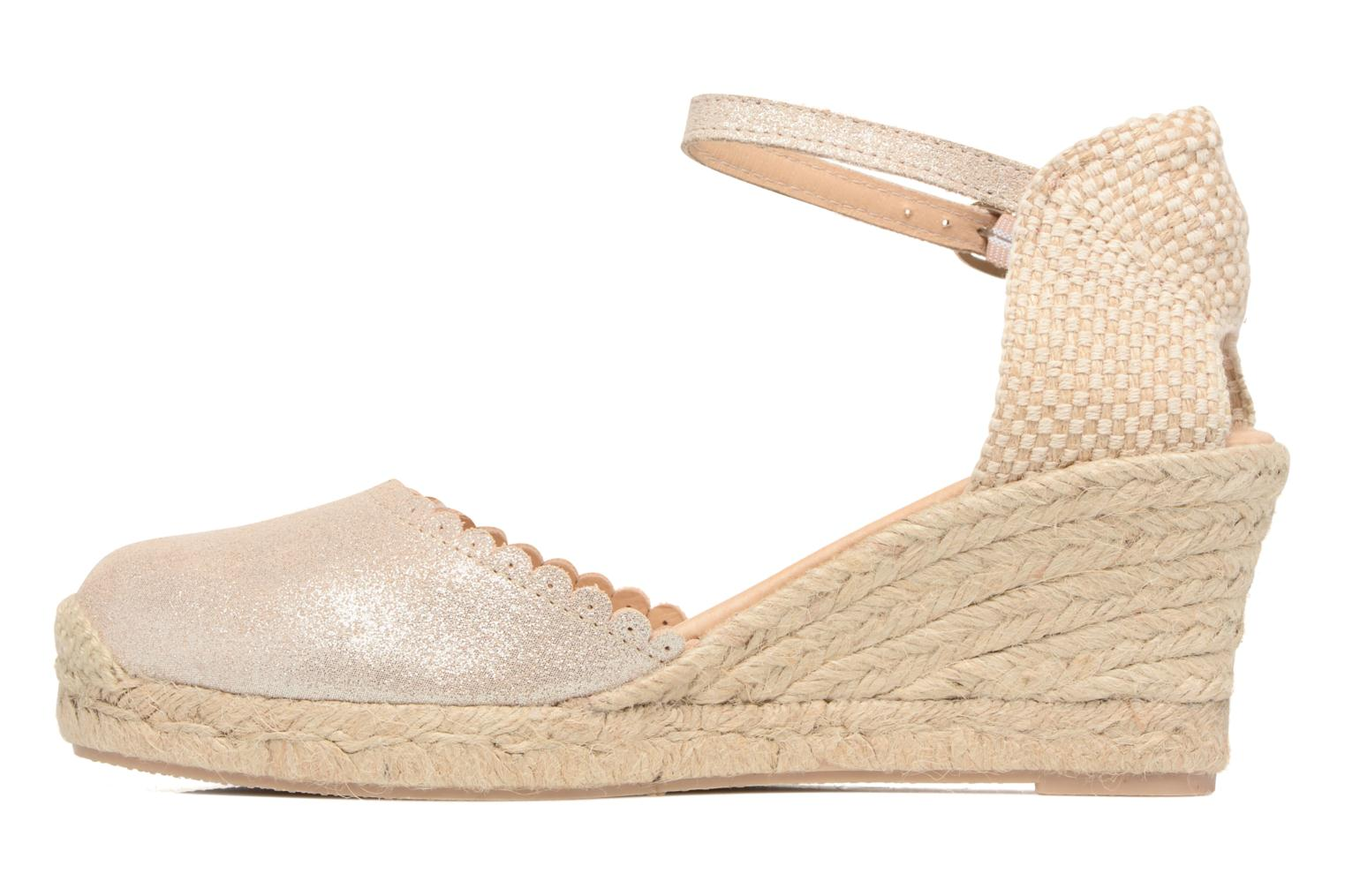 Espadrilles Georgia Rose Dasouplette Bronze and Gold front view